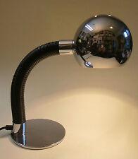 Tischlampe Schreibtischlampe Lampe Chrom Gelenkarm um 1968 Sixties Klassiker