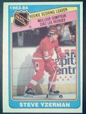 STEVE YZERMAN  83/84 O-PEE-CHEE NHL ROOKIE SCORING LEADER CARD 385