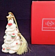 Lenox Christmas Ornament Christmas Tree 24k Gold Trim Nib -o6
