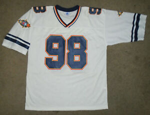 Vtg 1998 SUPER BOWL Signed Football Jersey STARTER Packers VS Broncos Autographs
