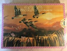 NEW Educa Migratory Flight 2000 Piece Jigsaw Puzzle Canadian Geese Sunset SEALED