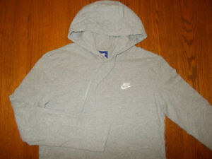 NIKE LONG SLEEVE HEATHER GRAY LIGHTWEIGHT HOODIE MENS MEDIUM EXCELLENT CONDITION