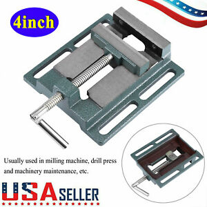 """Heavy Duty 4"""" Drill Press Vice Milling Drilling Clamp Machine Vise Opening Size"""