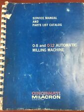 Parts List & Service Manual For Cincinnati Model OL 0-8 & 0-12