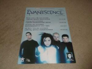 Evanescence   42cm X 30cm   UK Tour 2003  Poster