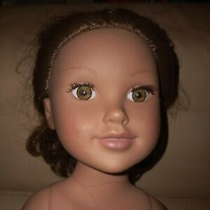 "Geoffrey Journey Girls Brown Hair Hazel Green Eyes 18"" Doll  Preowned 2010"