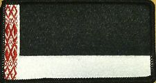 BELARUS Flag Tactical Patch With VELCRO® Brand Black, Red & White BLACK Border