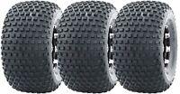 Set 3 WANDA ATV tires 22X11-8 22x11x8 4PR Knobby For 3 Wheeler