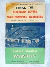 1960 FA Cup FINAL Blackburn Rovers v Wolverhampton Wanderers, 7th May
