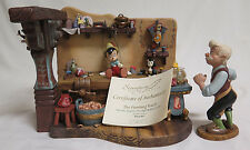 WDCC Pinocchio The Finishing Touch Geppettos Workshop RARE 242/1000 W/ Box & COA