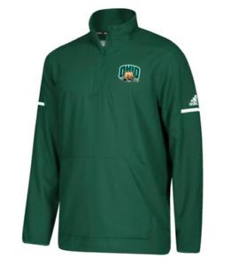 Adidas NCAA Ohio Bobcats L/S 1/4 Zip Green Green/White DH2516