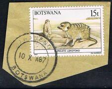 Botswana 1987. Animals. Suricate. 15t. 'on piece'. Used.