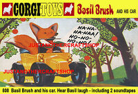 Corgi Toys 808 Basil Brush Car A3 Size Poster Leaflet Shop Display Sign