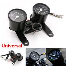 12V Universal Motorcycle LED Tachometer Km/h Speedometer Odometer Dual Gauge Kit