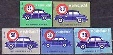 "POLAND 1966 Matchbox Label - Cat.Z#691I/V Road safety ""50 - in the settlements!"""