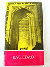 Vintage Baghdad Iraq Map Travel Tourist Brochure Guide 1972 (#2)
