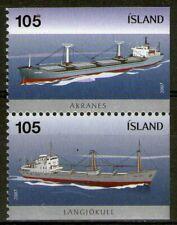 """ISLANDE:  n°1087/1088 **, """"la paire issue de carnet, bateaux, cargos"""" (cote 8€)"""