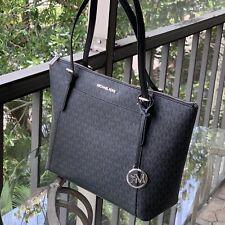 Michael Kors Women Lady Large PVC Black Leather Shoulder Tote Bag Handbag Purse
