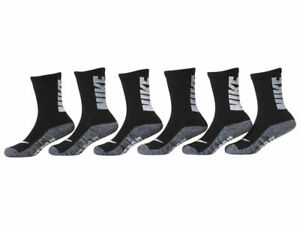 6 Pairs NIKE JORDAN BOYS GIRLS SOFT STRETCH CREW Socks Cushioned SHOE SZ 7C-10C