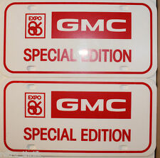 Pair of EXPO 86 Vancouver GMC Special Edition License Plates