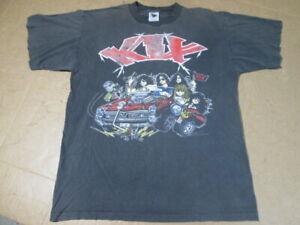Vintage KIX Band Hot Wire Tour `91 T-Shirt Large USA Black Single Stitch? RARE