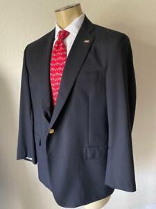 Brooks Brothers Men's Navy Blue REGENT Fit Wool Sport Jacket 44S $998 NWOT**