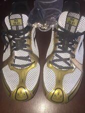 BROOKS PR MD 46.61 Mens Gold/White Track Shoes 1100931D729 Reg $65 Size 12 1/2
