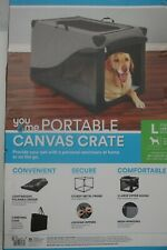 You & Me Stow & Go Portable Canvas Dog Crate With Carrying Handle LARGE NEW