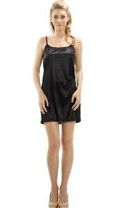 Women's Basic Satin Camisole Full Slip for layering Sleepwear Nightgown