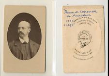 Waléry, Paris, Charles de Coninck de Merckem Vintage CDV albumen carte de visite