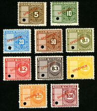 Venezuela Stamps VF OG NH Essay Specimen Set of 10