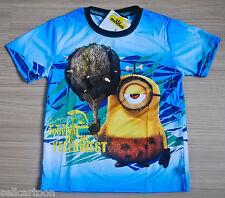 MINIONS Boys Girls Kids T Shirt Size S Age 2-4 #02 New Great Gift FREE SHIP