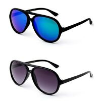 Kids Flat Top Sunglasses Aviator Style Flash Mirror or Gradient Lens