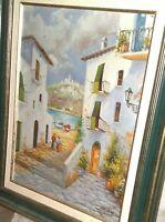 BEL DIPINTO OLIO SU TELA   paesaggio   dipinto vintage