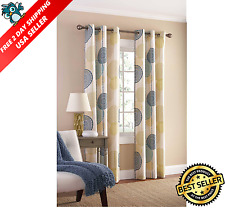 Meridian Grommet Top Room Darkening Insulated Window Curtains Set 2 Panels NEW