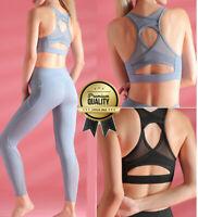 Designer Stretch Sport BH Bustier TOP Shirt seamless ohne Bügel für Yoga Damen