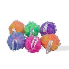 "1-Qty Draizee Six 5"" Exfoliating Tri-Colored Mesh Pouf Shower Sponges (50 grams)"