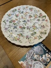 Andrea by Sadek 10 1/4 inch plate with flowers and gold scalloped edge.
