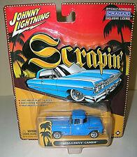 "Johnny Lightning ""Scrapin"" 1955 Chevy Cameo Pickup Truck- Blue -CRAGAR - 2003"