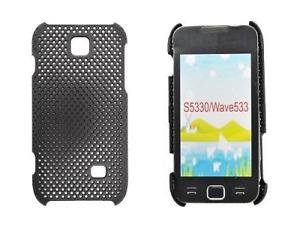 Contraportada Cuadrícula (Negro) ~ Samsung GT S5330 Wave 533