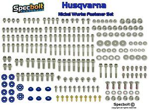 Nickel Wurks Bolt Kit Husqvarna Spec FC TE TC FE 150 125 250 300 350 450 500
