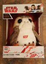 "NEW NRFB 8.5"" PORG ACTION PLUSH Star Wars The Last Jedi - Original Movie Sounds!"