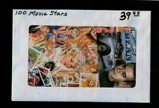 100 Different Worldwide Movie Stars stamps - a Big Bulging Packet Free Usship