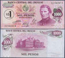 URUGUAY P51***1 NUEVOS PESOS ON 1000 PESOS***ND 1975***UNC GEM***LOOK SUPER SCAN