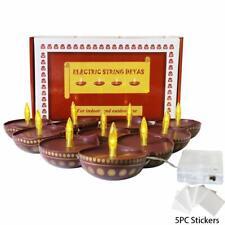 Hindu Decor Wedding Decor Pooja Diwali Mandir Electric Diya String Lights Deco