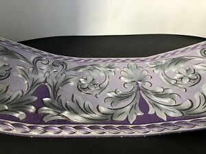 wunderschöne Barock Bordüre Lila.hell.lila.silber 5m lang 17,7 cm breit
