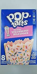 Kelloggs POPTARTS Frosted STRAWBERRY Milkshake Toaster Pastries 8 CT.