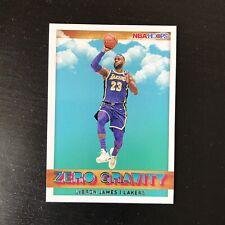 2019-20 Panini NBA Hoops Lebron James #18 Zero Gravity Insert Card
