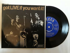 "Rolling Stones - Got Live If You Want It  7"" UK Decca Mono EP DFE 8620 P/S 1965"