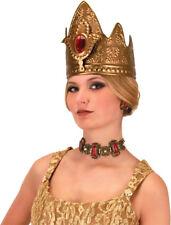 Morris Costumes Women's Medieval Queen Plastic Gold Crown Adult. EL290224